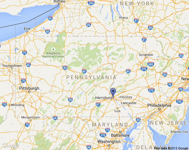 Map of PA Trails of History - History Hubs