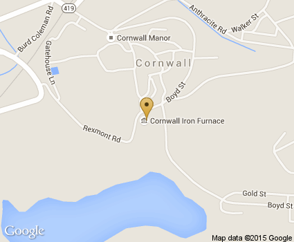 Cornwall Iron Furnace Map