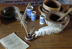 Pennsbury Manor Inkwell and Quill